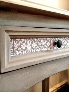 Console Table with Decoupage